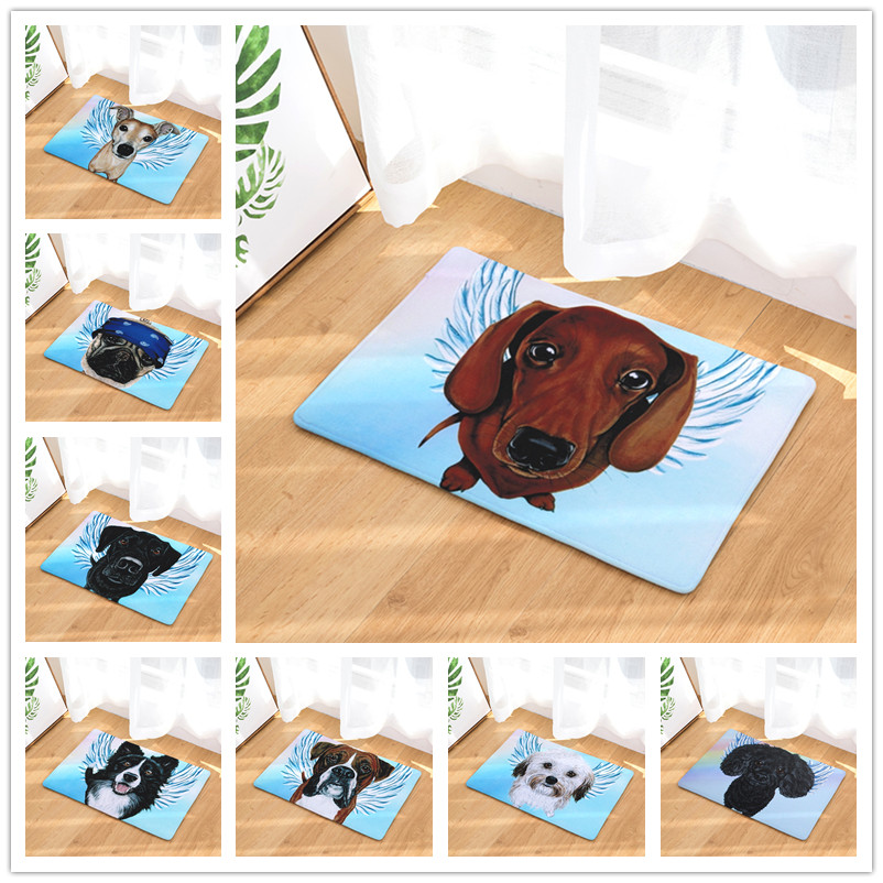 New Arrive Door Mats for Entrance Door 20 Style Dogs Pattern Carpets Living Room Dust Proof Mats Home Decor Rugs 40x60 50x80cm