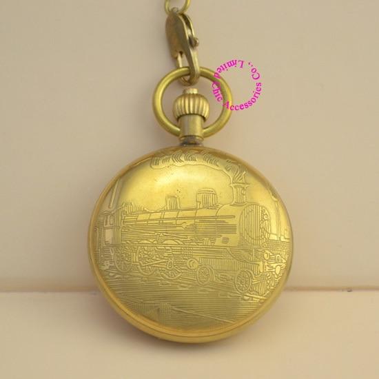 389f5b5d83b Atacado relógio de bolso mecânico de boa qualidade novo presente para homem  pai fob relógios retro vintage antique bronze clássico trem em Relógios de  bolso ...