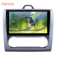 Harfey For 2004 2005 2006 2007 2008 2011 Ford Focus Exi AT GPS Navigation 10.1 2DIN Android 6.0 Touchscreen Quad core Car Radio