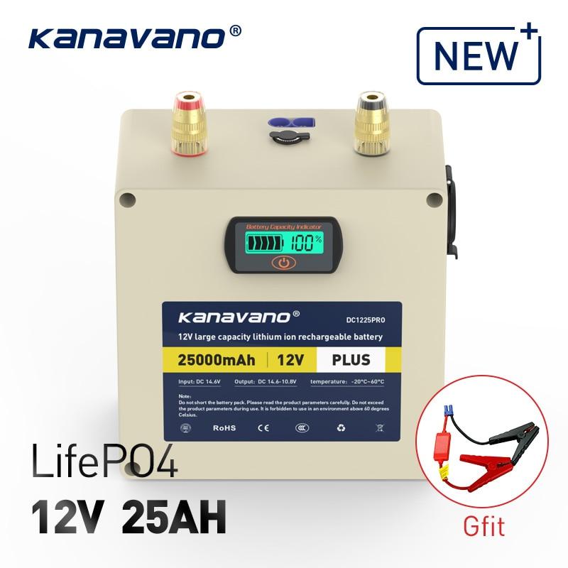 12 V 25AH LifePO4 100A bateria Super Power Car Ir para Iniciantes Power Bank carregador Portátil com 4A presente EC5 linha de partida do carro