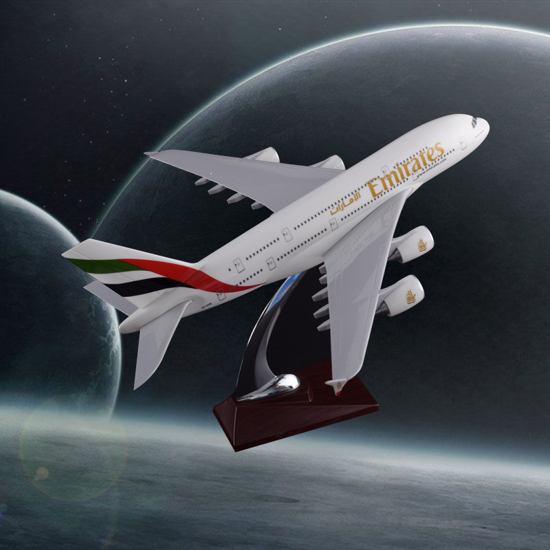 45cm Resin A380 Airplane Model United Arab Emirates Airlines Aircraft Model Emirates Airway Airbus Creative Travel Gift Souvenir