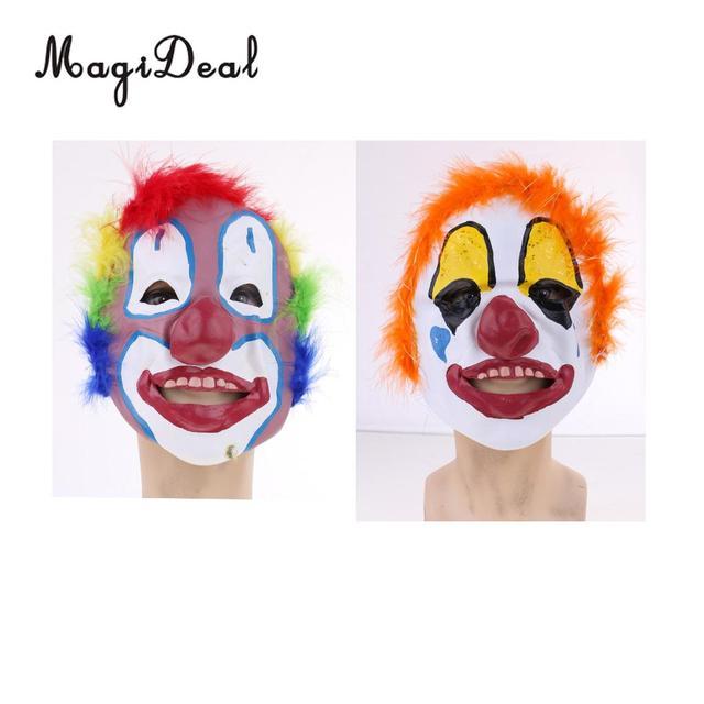 MagiDeal MagiDeal Happy Halloween Latex Clown Maske Bunte ...