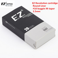 RC1009RLB EZ Revolution Tattoo Needle Cartridges 10 Round Liner Medium Taper 3 3 5mm 20 Pcs