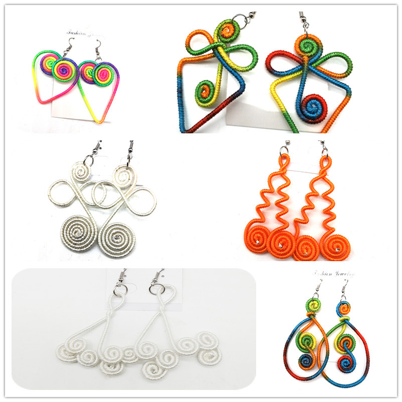 colorful Wire african earrings