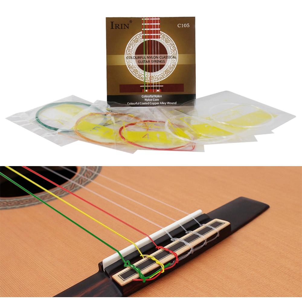 irin c105 acoustic guitar strings 6pcs set 028 043 classical guitar strings nylon core. Black Bedroom Furniture Sets. Home Design Ideas