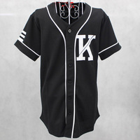 Винтаж рубашка мода Мужская Хип-хоп повторяющийся рубашку Бейсбол Джерси Новые приходят баски Топы черная рубашка Для мужчин одежда