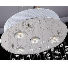 Modern LED K9 Crystal Chandeliers Light Fixture for Staircase Stair Lights Luxury Hotel Villa Vanity Bedroom Hanging Lamp