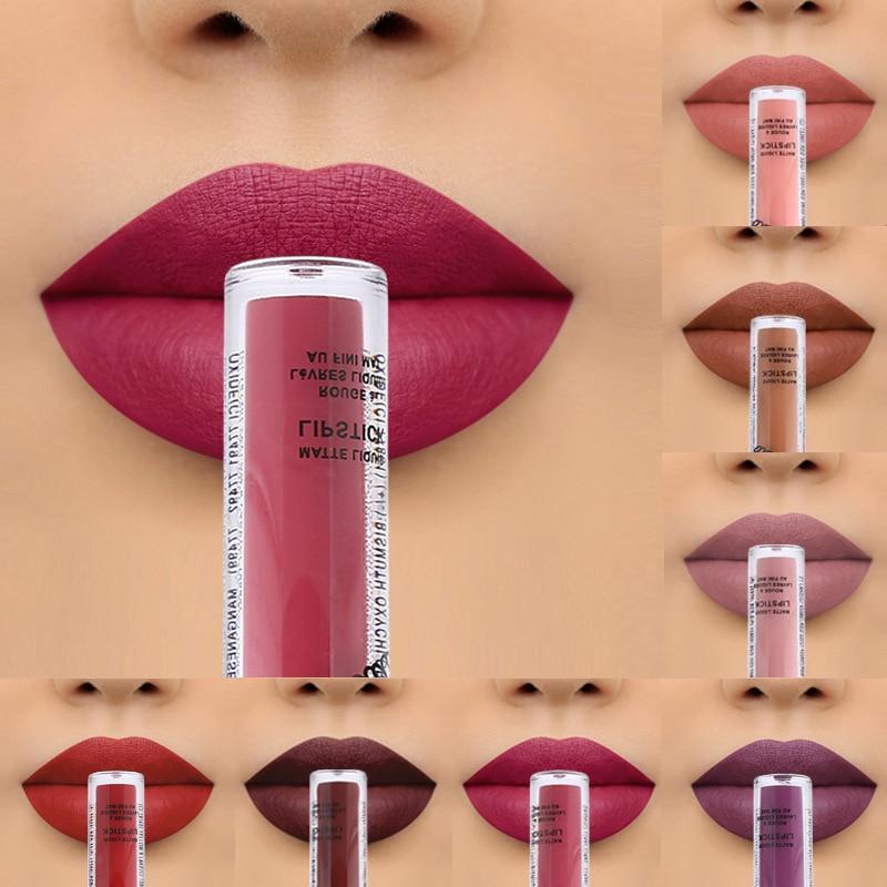 12Color Liquid Matte Lipstick Waterproof Long Lasting Lipsticks Matt Lip Stick Labiales Rossetti Matte Lip Gloss Makeup Lipstick