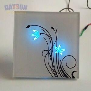 Image 5 - Новый сенсорный светильник, 2 сторонний сенсорный выключатель, умный сенсорный светильник, Домашний Светильник, роскошная белая/черная Хрустальная стеклянная панель