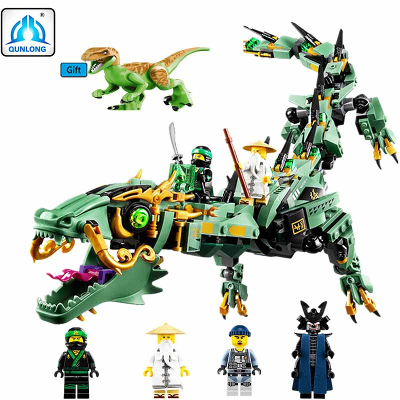 Movie Series 592pcs Flying Mecha Dragon Building Blocks Bricks Toys Children Model Gifts Compatible With