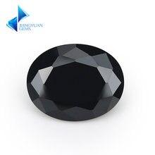 Размер 2x3 ~ 13х18 мм овальная форма 5a черный cz камень искусственные