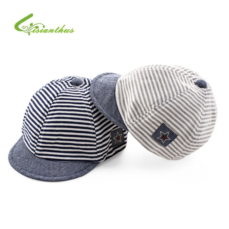 Baby Baseball Caps Summer Cotton Infant Hats Cute Casual Striped Soft Eaves Baseball  Cap Baby Boy Beret Baby Girls Sun Hat ad89614f3b9