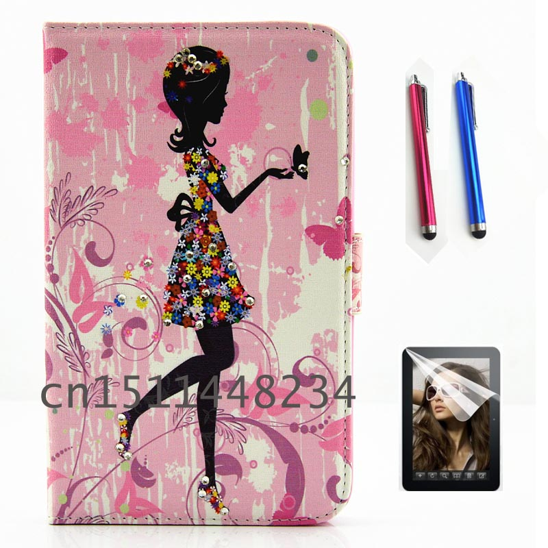 NEW child diamond girl fashion PU leather shell case for Samsung Galaxy Tab a a6 7.0 2016 T280 T285 smart cover Silicone cases