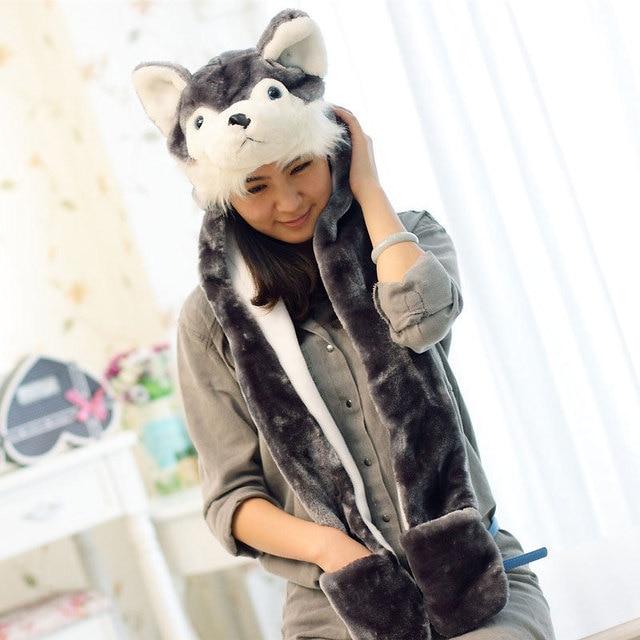 Животных дизайн женщина российской бомбардировщиков шляпы для женщин новые трикотажные лыжный шляпу защиты уха зимний шляпы шапка шапки мочка