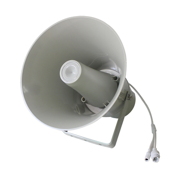 SIP PA System Outdoor Waterproof Network Round Horn Speaker 15W/30W,supports 12VDC or POE power supply,with RJ45 interface