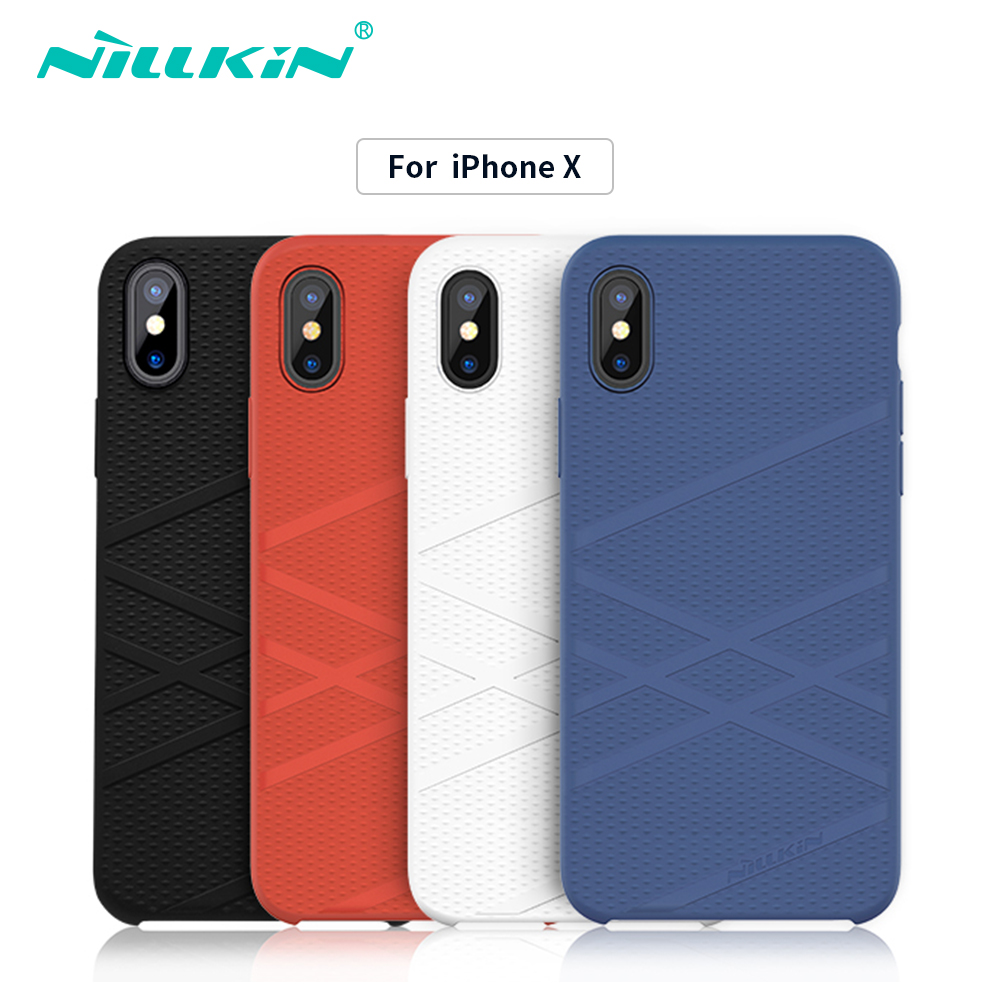 Nillkin brand Liquid thin silicone cases for iPhone X bumper cover protective shell Protector cover for iphone x case luxury