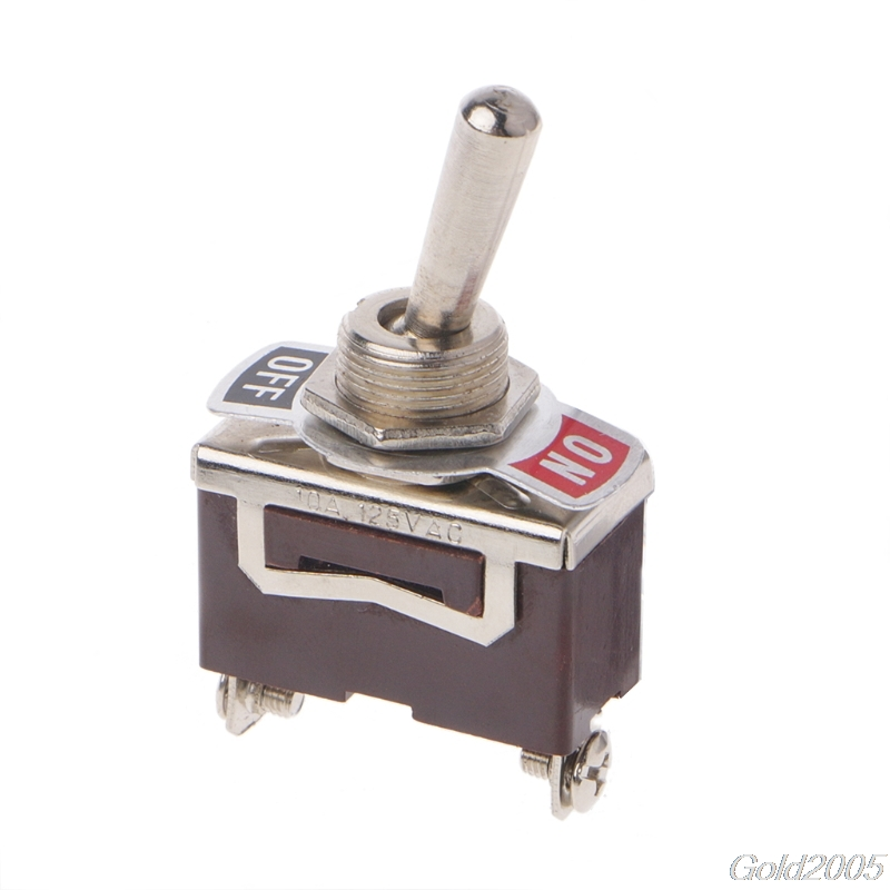 Heavy Duty SPST 2Pin 2 Terminal 10A AC 250V ON/OFF Rocker Toggle Switch E-TEN1021 G25 Drop Ship