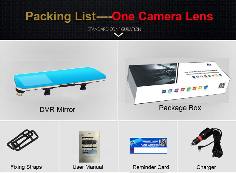 E-ACE Car Dvr Rearview Camera Mirror Auto Dashcam Video Recorder Automobile Full HD1080P Camcorder Dual Camera Lens Registrator 33