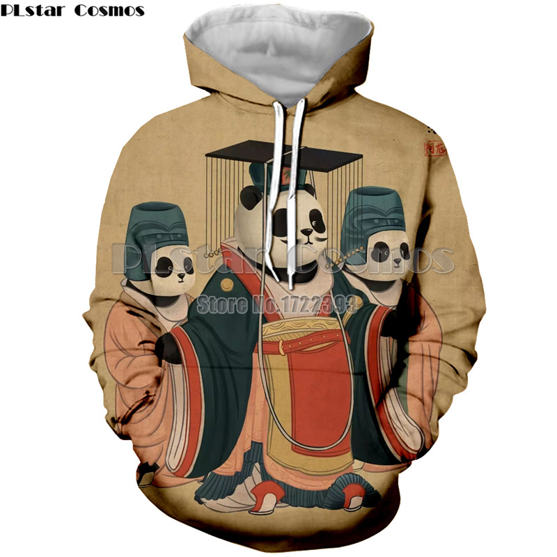 PLstar Cosmos 2018 New Women/Men Funny Hoodie Chinese Kung Fu Style Panda 3d Print Hoodies High Quality Tracksuit Unisex Tops