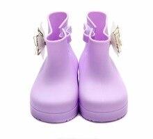 Мини Мелисса Луки Обувь для девочек Босоножки детей Melissa сандалии для девочек Сапоги и ботинки для девочек Дети Сандалии Высококачественные босоножки детские резиновые сапоги