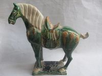 20.3cm * / Exquisite ancient China collection Tang sancai ceramic horse statue