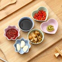 Onme 3 шт./компл. бытовой чеснок томатного соуса сои, соль уксус Вкус специй блюдо с изображением пшеничного колоса солома приправа блюдо посуда