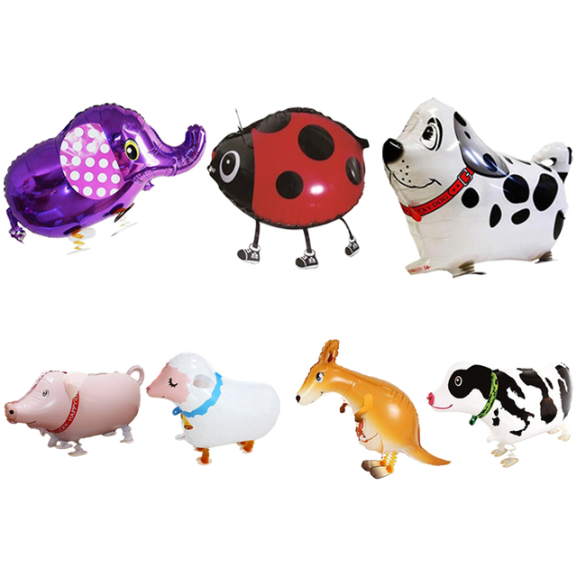 Party Decorations Animal Balloons Pet Cat Giraffe Dinosaur Frog Foil