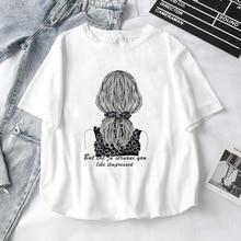 23aa4a4755 New Cotton Harajuku Aesthetics Tshirt Sexy Flowers Feather Print Short  Sleeve Tops & Tees Fashion Casual Couple T Shirt