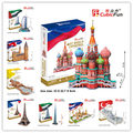 MC Series Large Cubicfun 3D Paper Puzzle World Famous Building Architecture Model Souvenir Kids or Adults Parent-Child Toy