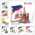 Série mc grande arquitetura modelo de papel cubicfun 3d puzzle edifício famoso do mundo de souvenirs crianças ou adultos brinquedo pai-filho