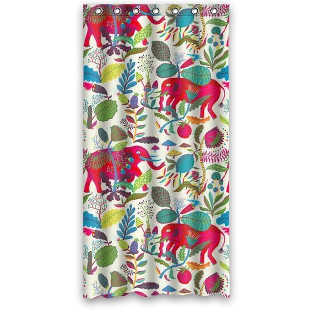 36 x 72 inch aztec elephant drawing shower curtain 100 waterproof polyester bath curtain srings. Black Bedroom Furniture Sets. Home Design Ideas