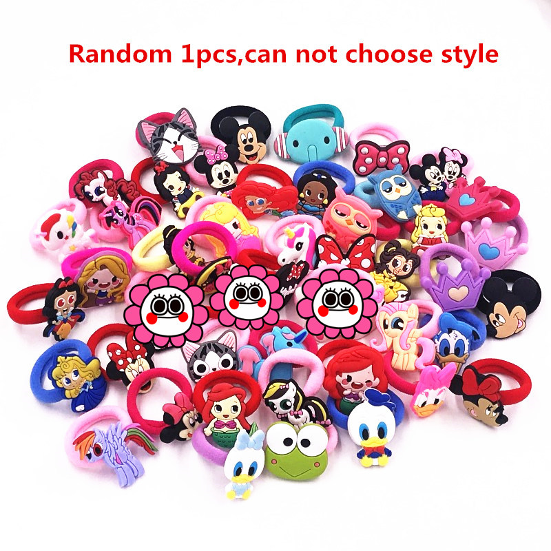 1 pcs Mickey Minnie Princess Animal Kitty unicorn Rubber Headwear Girls Children Hair accessories Hair Elastic Hair Bands-in Hair Accessories from Mother & Kids on AliExpress