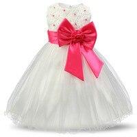 Party Event Flower Girls Dresses Red Christmas Baby Girl 3 8 Years Birthday Dress Toddler Girls