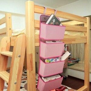 Image 5 - 4 kieszenie drzwi ściany wiszące bagażu organizator z hak oszczędność miejsca uchwyt do przechowywania torba na zabawki szafy w sypialnia salon