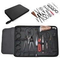 16Pcs/Set Garden Bonsai Tool Set Carbon Steel Kit Cutter Scissors with Nylon Case M25