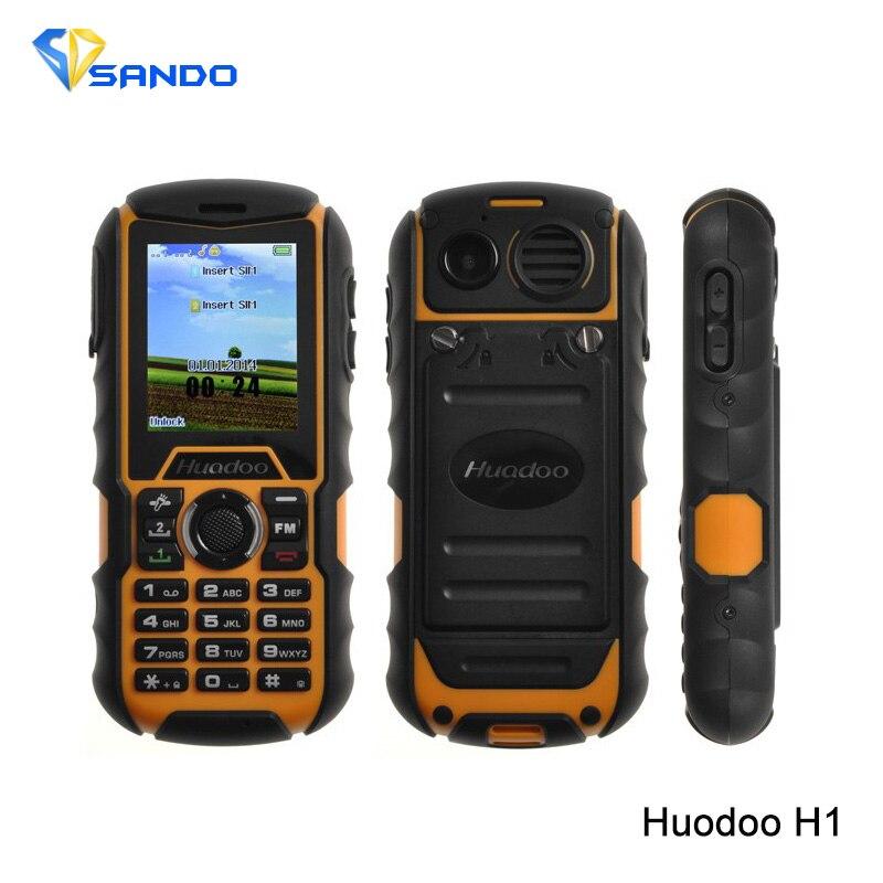 Original Huadoo H1 Waterproof 2 0 MTK6261A Rugged Dustproof Phone Dual Sim Shockproof Outdoor Phone 1700mAh