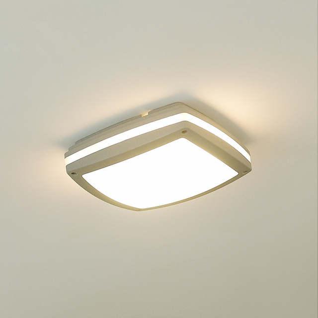 47 22 12 De Descuento Luz De Techo A Prueba De Agua Cuadrada De Aluminio Terraza Exterior Lámpara De Dormitorio Moderno Pasillo Europeo Para Puerta