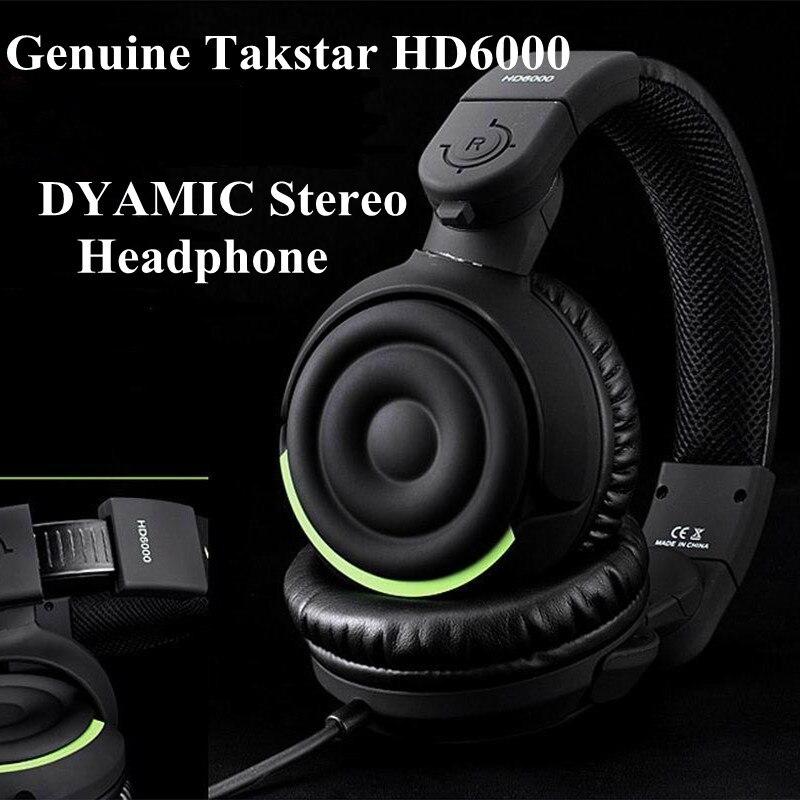 Genuine Takstar HD6000 Dynamic Stereo Headphones Auriculares Studio Audio Monitor Headset Ecouteur DJ Game Earphone dj headset takstar t