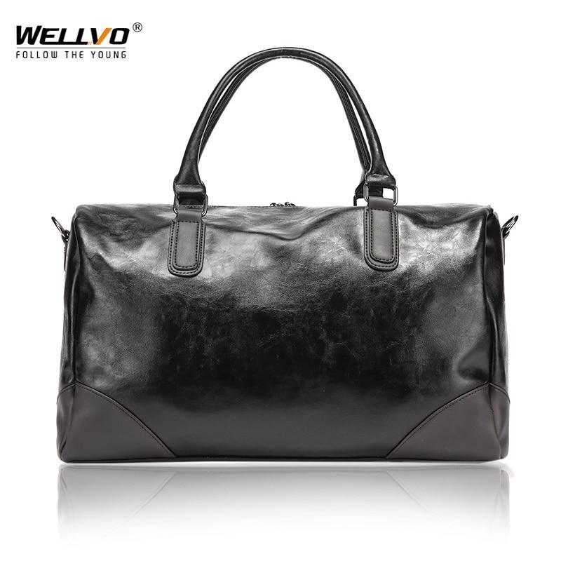 Fahion PU Leather Men's Travel Duffle Bag Round Bucket Shape Handle Bag Shoulder Messenger Bag sac de voyage Crossbody XA159WC все цены