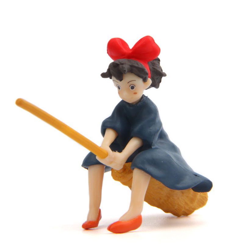 1 pcs kawaii Kikis Delivery Service Kiki with Magic Broom Figure Toys Collection Model DIY Mini Toy