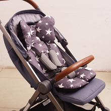 Baby Buggy Seat Cushion Thickened Cotton Kid Cushion Head Stroller Chair Cushion Warm Newborn Children Stroller Accessories