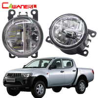 Cawanerl Car Styling 4000LM LED Fog Light 6000K White DRL Daytime Running Light For Mitsubishi L200