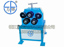 Electric angle steel roll forming machine , round flange bending roller
