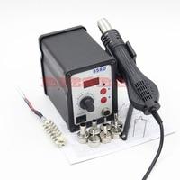 RIESBA 858D Hot Air Gun 700W ESD Soldering Station Digital Desoldering Station 7 Air Nozzles Heating