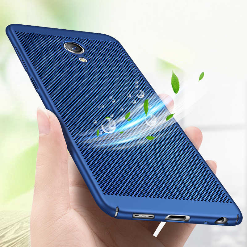 Luxury Heat Dissipation Case For Meizu M5 M3 Note M6 M5S Breathable Hard PC Protective Cover For Meizu Pro7 Plus M5C