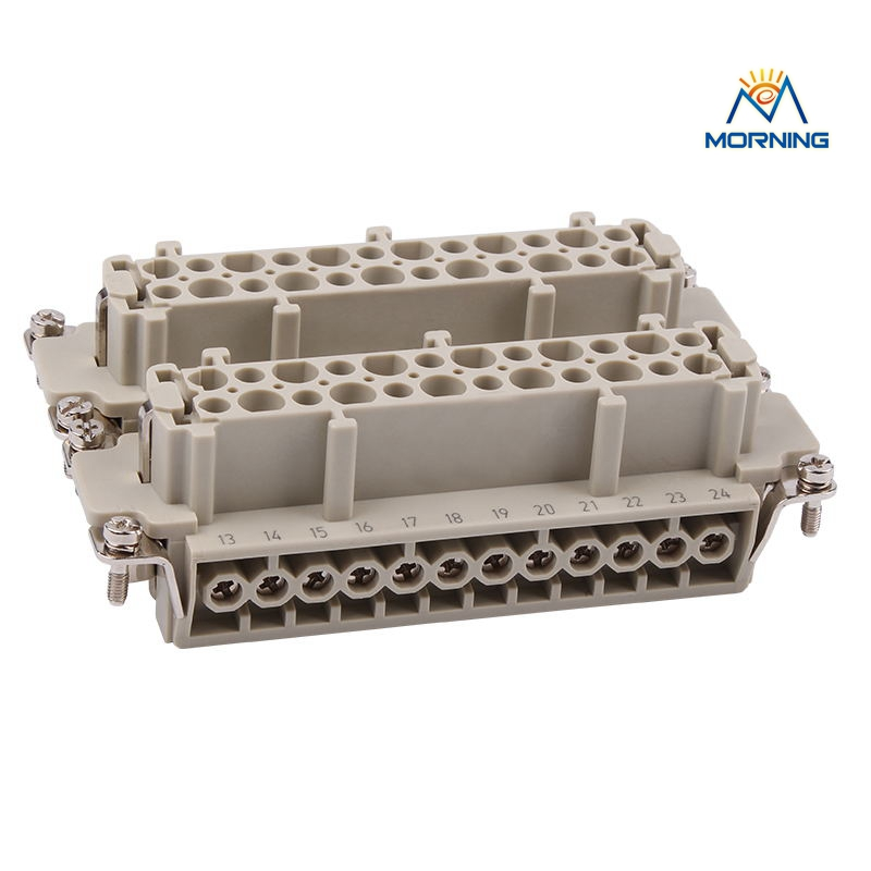 HE-048 Industrial Copper Alloy Material Male 48 Pins Current ,16A Voltage ,500V Heavy Duty Connector Female Screw Terminal heavy duty connectors hdc he 024 1 f m 24pin industrial rectangular aviation connector plug 16a 500v