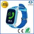 Лучшие продажи 450 мАч дети часы smartwatch с GPS LBS SOS шагомер сна Монитора Трекер Сигнализация отслеживания истории