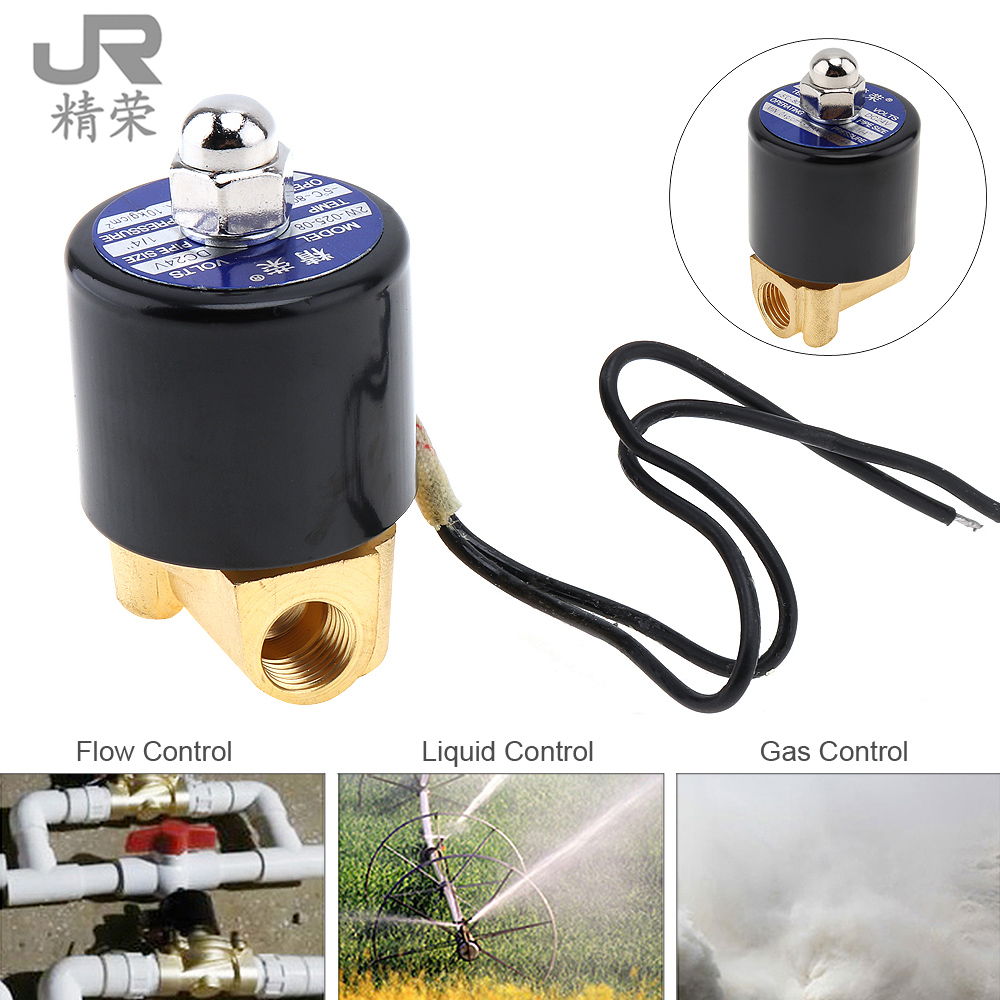 1/4 DC 24V Electric Solenoid Valve Magnetic Pneumatic Valve Brass Body for Water Air Oil Gas 2017 summer sexy plus size swimwear women one piece swimsuit swimming suit push up bathing suit beach wear