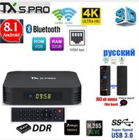 TX5 max PRO DDR3 4 Гб ОЗУ 32 Гб ПЗУ 2,4 г 5 г WiFi 100 м LAN Bluetooth Android 8,1 tv Box Amlogic S905X2 Четырехъядерный 4 K HD Смарт-бокс