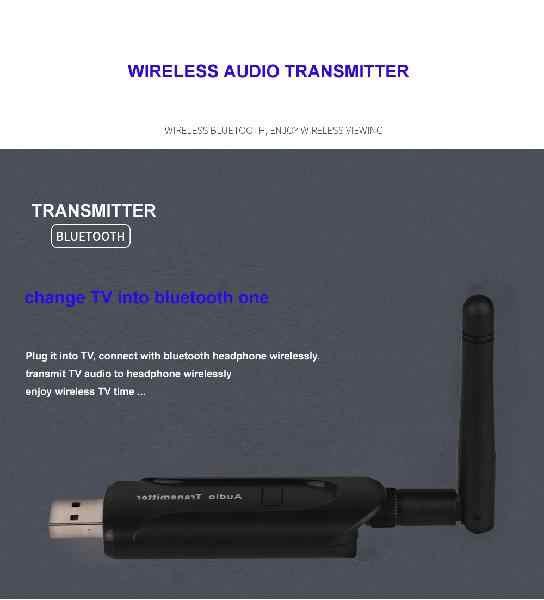 USB 3,5 мм Беспроводной Bluetooth 4,1 CSR8670 музыке стерео аудио передатчик отправителя для портативных ПК ТВ Динамик Наушники по Bluetooth